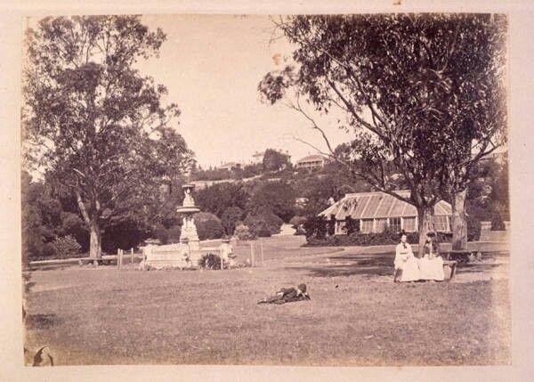 People's Park in Launceston,Tasmania in 1880. •State Library of Tasmania•
