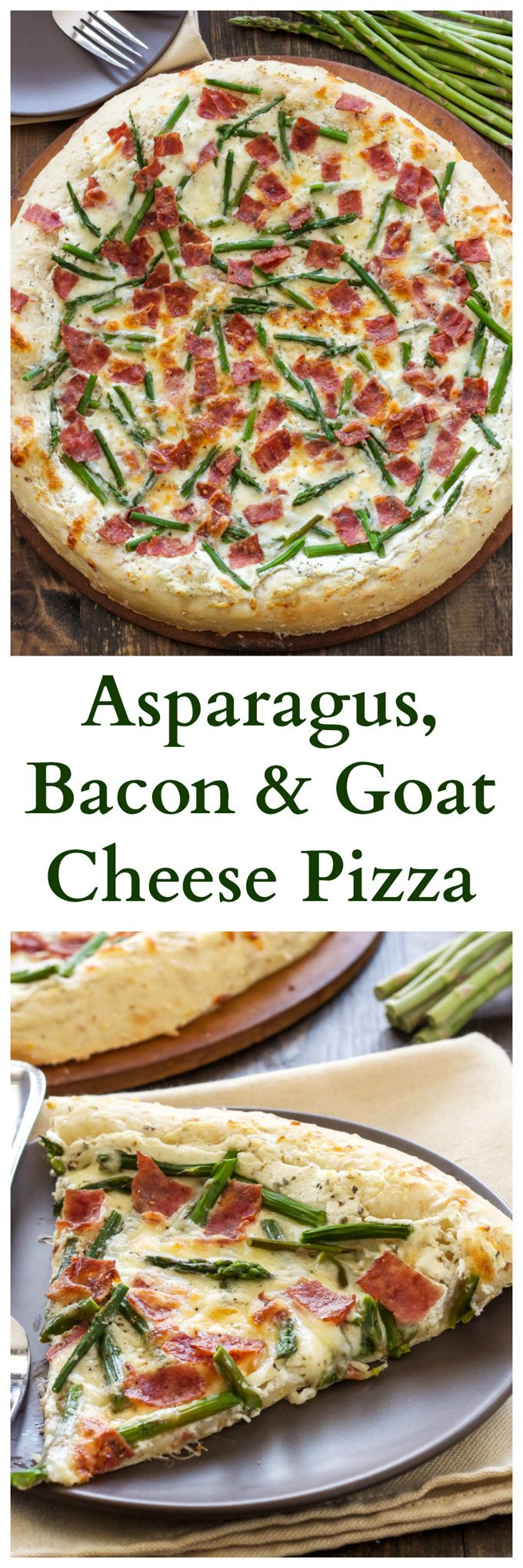 Asparagus, Bacon, and Goat Cheese Pizza | Asparagus, bacon, and goat ...