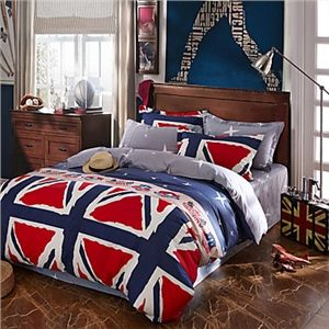 Meilleur Vente Drapeau Ensemble de literie High Quality Lit Cover Unique Design drap de lit Mode drap de lit literies 4Pcs Reine