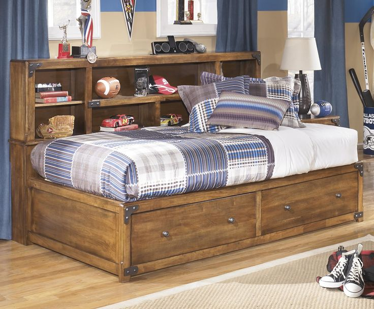 Cole Twin Bookcase Bed With Footboard Storage By Signature Design Ashley