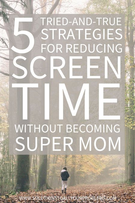 Trouble limiting screen time for kids? Check out these 5 strategies for reducing screen time without having to turn into a super mom... :)