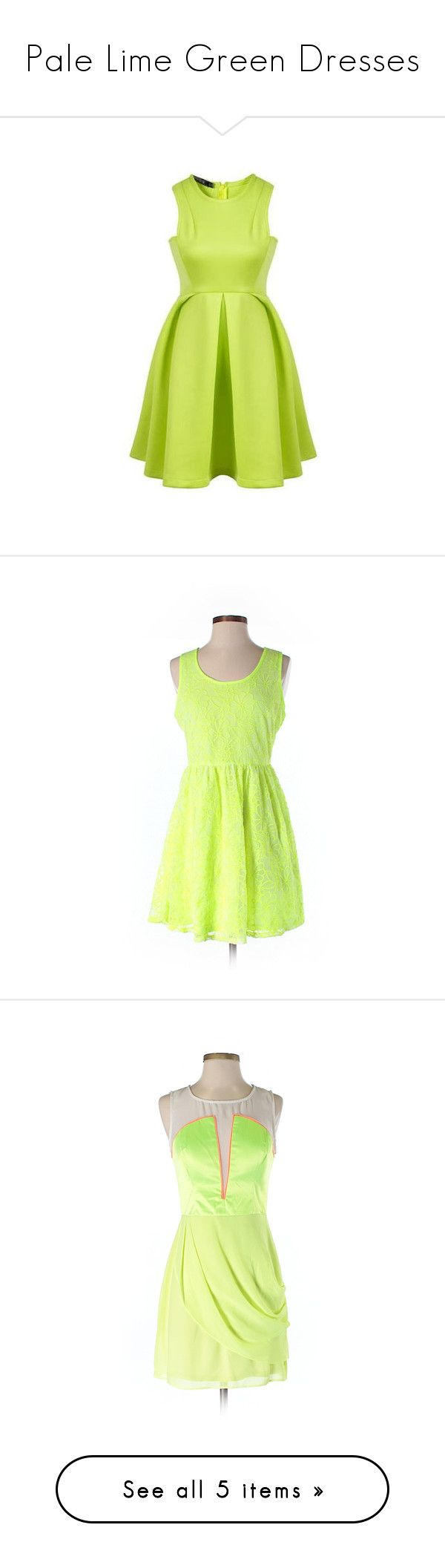 """""""Pale Lime Green Dresses"""" by tegan-b-riley on Polyvore featuring dresses, sleeveless dress, green ruffle dress, yellow green dress, sleeveless flare dress, flutter-sleeve dress, light green, light green dress, very j and green color dress"""