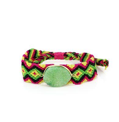 Wayuu Armband met Edelsteen 103 - €39,95