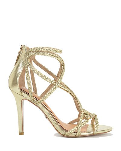 Evoke Metallic Strappy High Heel by Badgley Mischka