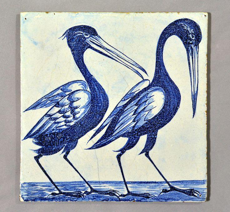 William De Morgan tile with Storks | Flickr - Photo Sharing!
