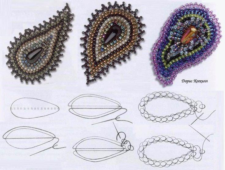 Paisley beads on vrukodelii.com (Russian)