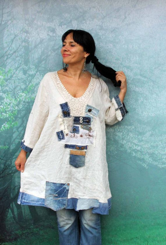 1 X XXL lin dentelle boro denim doublure recyclé par jamfashion