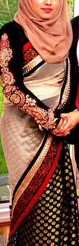 Saree with hijab