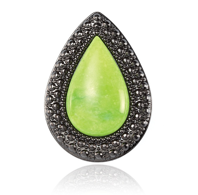 SAMANTHA WILLS - BOHEMIAN BARDOT RING - LIME
