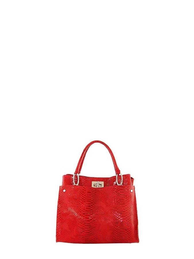 Skórzana torebką na rękę w żywym kolorze. Elena Andrea 389 PLN  #sale #limango #moda #bag #fashion #red