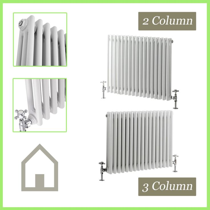 Traditional Column Radiators Horizontal Cast Iron Style Central Heating Rads UK | eBay