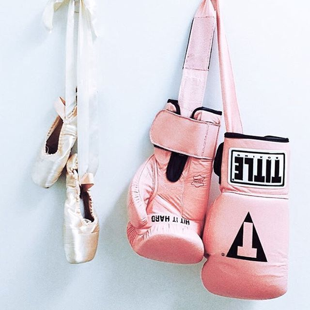 The only two forms of exercise that I actually enjoy, though I'd never own or use pink boxing gloves  ( via…