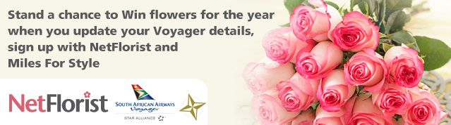 Win Flowers for a Year with NetFlorist, FlySAA and Miles For Style |  Enter here: http://eepurl.com/FcWMf