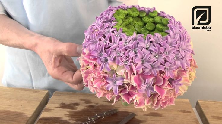 How to make Bridal Bouquet with spring flowers, Step by step. Bloomtube DIY