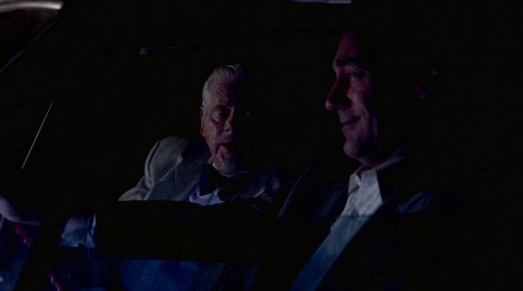 "On the Road, by Jack Kerouac, Mad Men Season 7, Episode 12 (""Lost Horizon"").  Don says. ""Remember On The Road?"" Bert replies, ""I never read that book. You know that."" Don says ""I'm riding the rails."" and Bert then quotes from the book: ""Whither goest thou, America, in thy shiny car in the night?"""