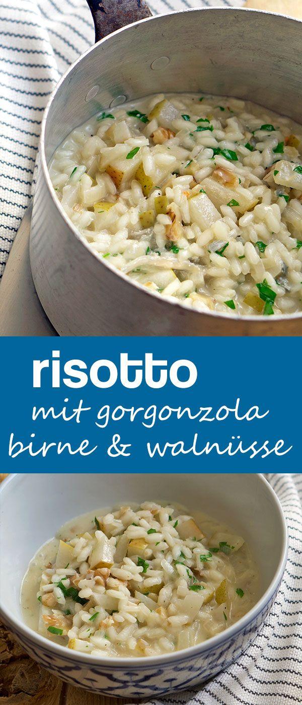Risotto mit Gorgonzola, Birne und Walnüssen   Madame Cuisine Rezept