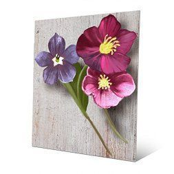 Metal floral wall art is beautiful cute and amazingly popular in homes across the world. Metal Flower wall art comes in many different sizes, stylish and colors. You can find traditional florals on canvas however you can find more abstract floral patterns that are attention getting and unique. #metalwallart #wallart #flowers   Flower Triplets: Painting of 3 Violets in Pink Mauve Violet