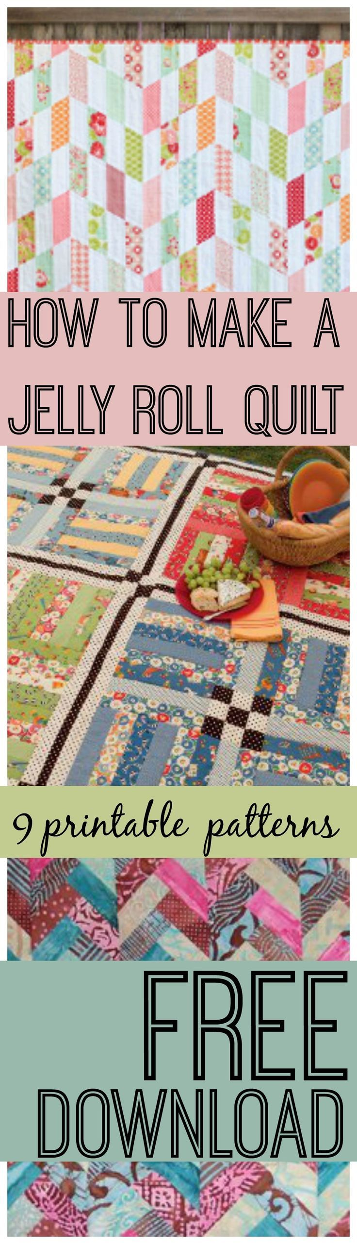 How to Make a Jelly Roll Quilt: 9 Jelly Roll Quilt Patterns | FaveQuilts.com