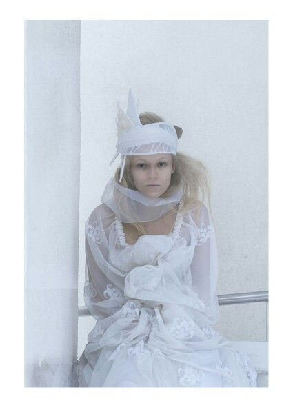 Frost #norwegian #fairytale #fashion #headpiece #design #winter #light #indianephoto
