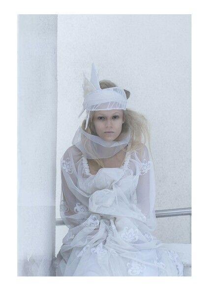 Frost #norwegian #fairytale #fashion #headpiece #design #winter #light #indianephoto