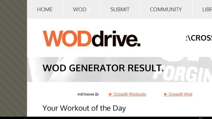 Crossfit WOD Generator from WODdrive  http://www.woddrive.com/wod_return.html?type=bodywt