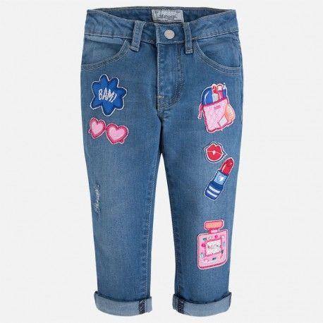 Mayoral vágány csajos farmernadrág.  Mayoral cool girly denim.  www.ckf.hu  #ckf #coolkids #kidsfashion #kidsclothes #gyerekruha #farmer #nadrág #denim #denimjeans #mayoral #girly #csajos #vagány #jeans