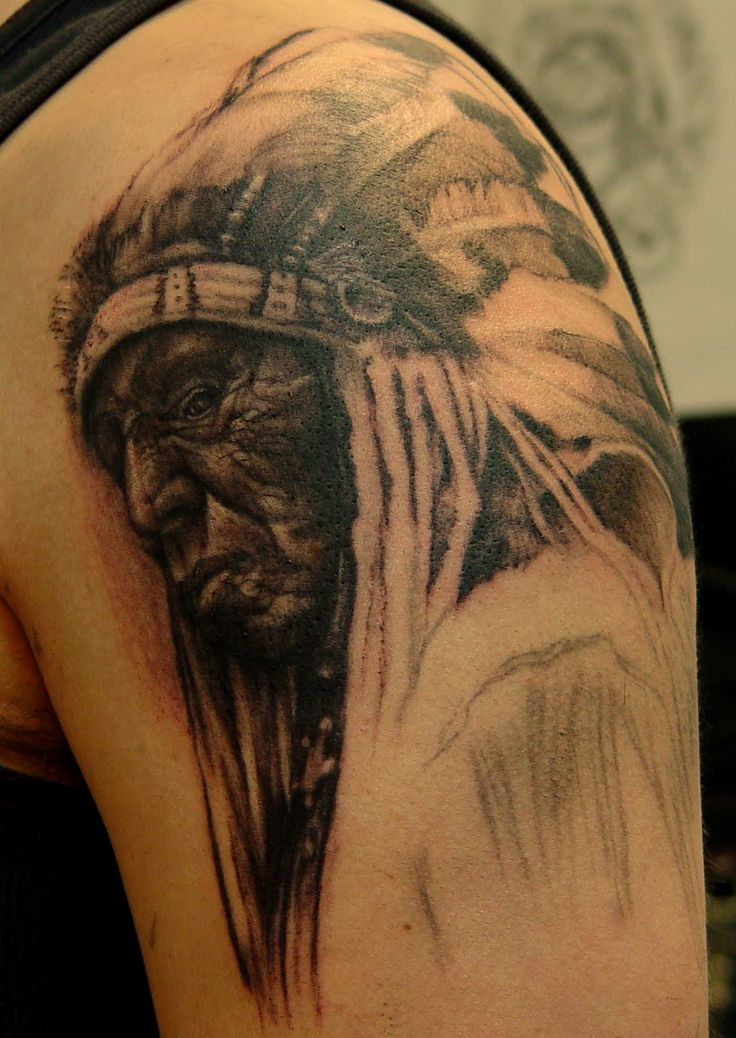 Indian Chief Skull Tattoo Meaning | Indian Tattoos On Hands
