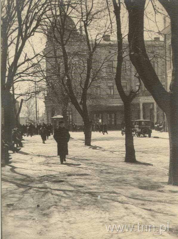 ul. 3 Maja widok na Krakowskie Przedmiescie 1930r. autor Stanislaw Jacek Magierski