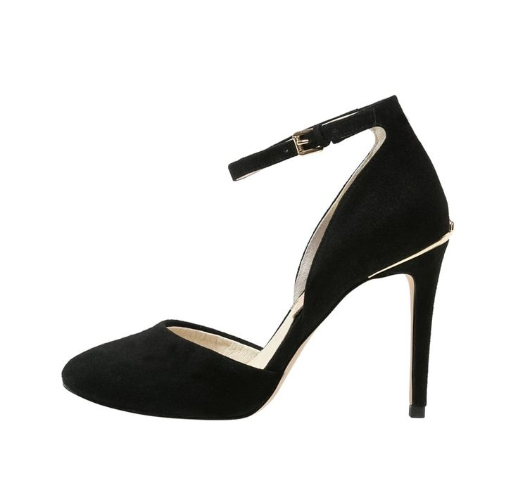 Classy black d'Orsay pumps with ankle strap | Michael Kors