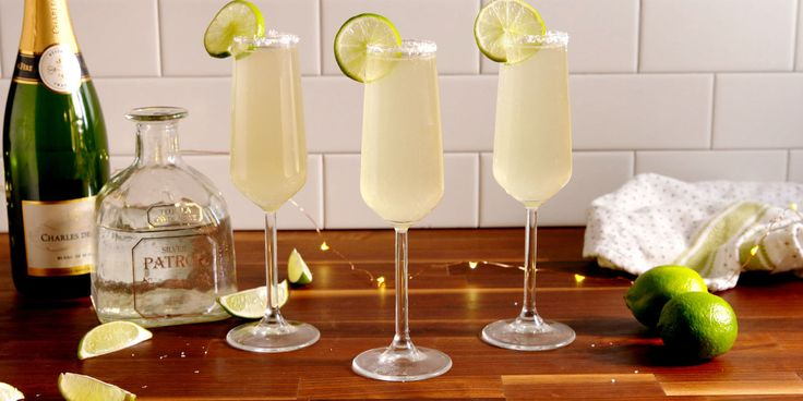 This margarita gets a festive boost with the addition of your favorite bubbly.