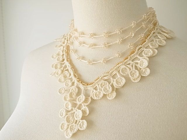 Free Crochet Wedding Jewelry Patterns : 165 best images about Lace Jewelry on Pinterest Anklet ...