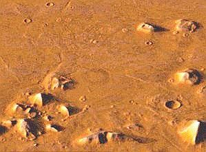 """the pyramids of Mars. (top right) you will see the much disputed """"face"""" of Mars."""