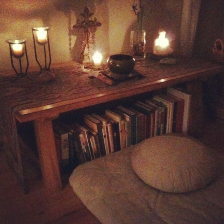 Home altar for meditation & contemplative practice...                                                                                                                                                                                 More