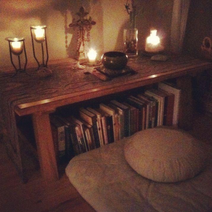 Home altar for meditation & contemplative practice...                                                                                                                                                                                 More