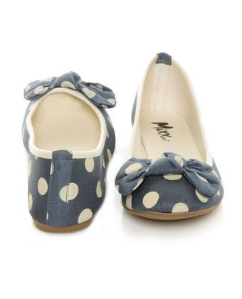 Too cuteFashion, Polka Dots Flats, Polkadot, Polka Dots Bows, Flats Shoes, Ballet Flats, Flat Shoes, Flats 3, Blue Polka Dots