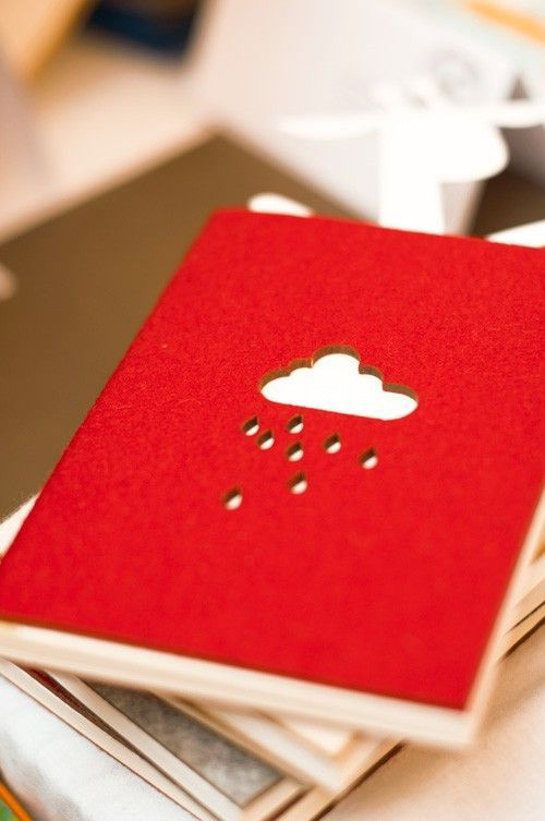 felt cover notebooks  by PinkNounou