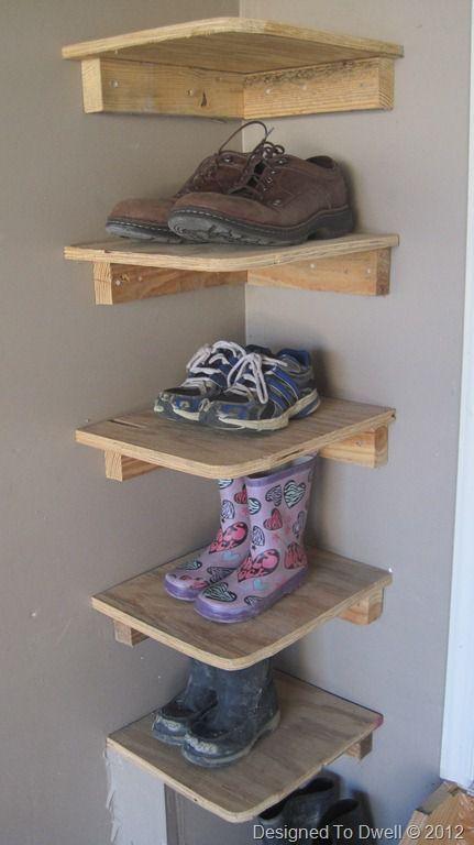 Corner shoe storage