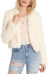 Billabong Keeps Faux Fur Jacket available at #Nordstrom