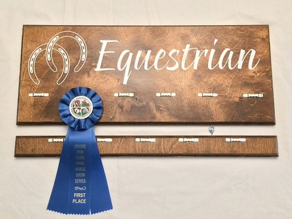 Rustic Display Board for Horse Show Ribbons by AMCWoodcrafts