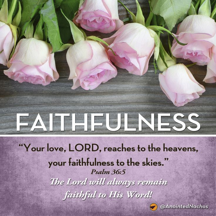 The Lord will always remain faithful to His Word!