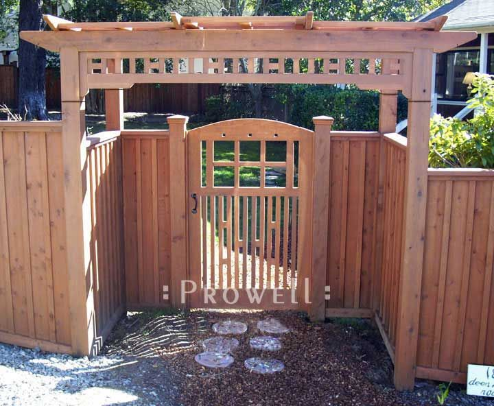 wood garden gate design by prowell