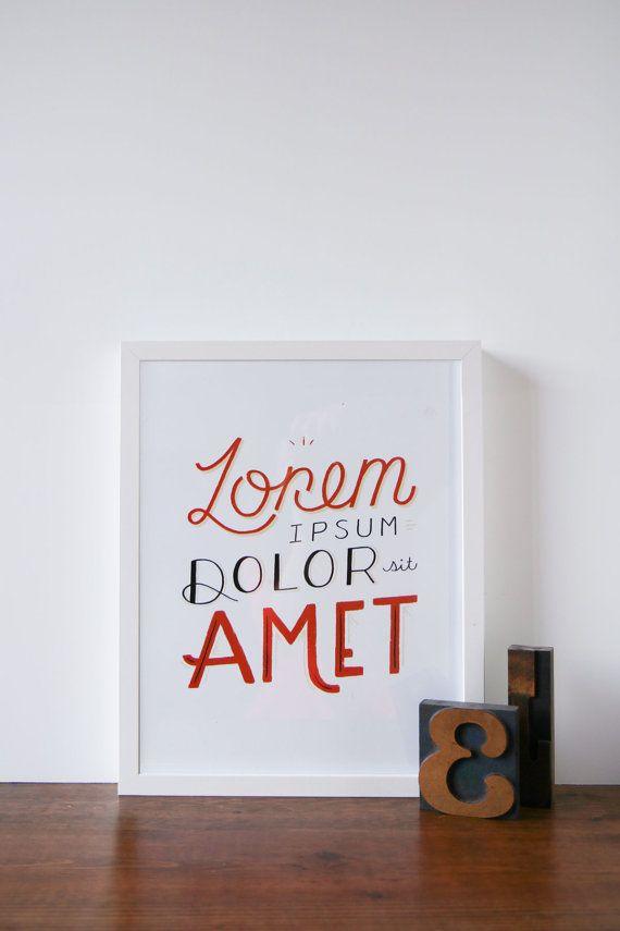 Handlettering Typography Lorem Ipsum Art Print by APairOfPears on Etsy, $23.00