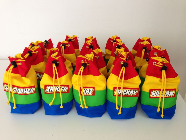 Lego goodie bags for legoland birthday party pretty things