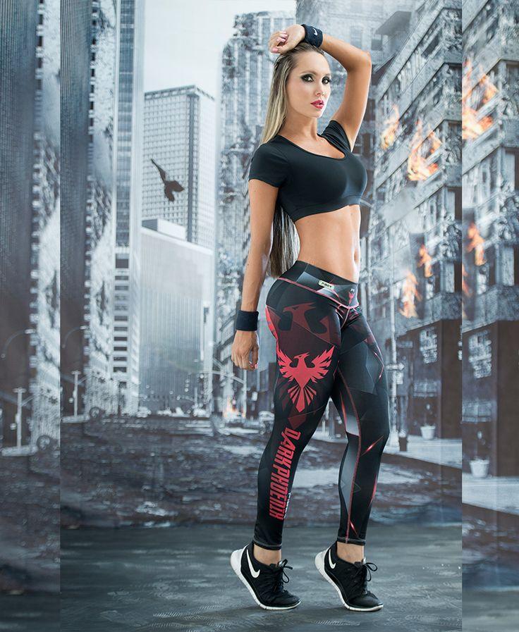 2016 nuovo rosso a strisce attivo esecuzione collant donne inglese lettera abbigliamento fitness le donne yoga pantaloni