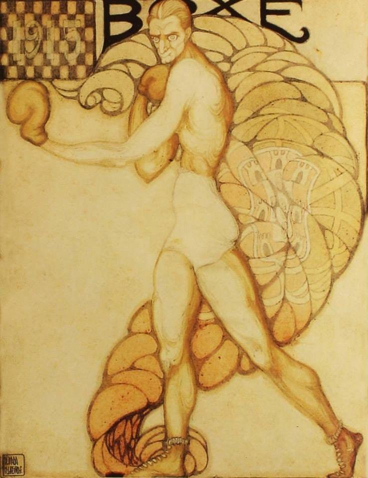 ' Box' - Ilustração por Almada Negreiros