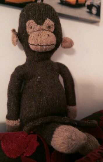 A finished Chunkey Monkey! So pleased with him :) just needs a scarf to finish him off.