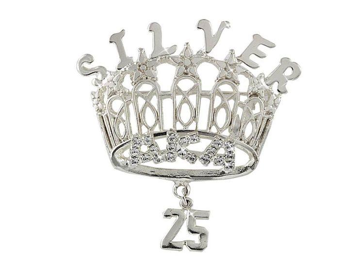 b5549707abd15 Silver Star Crystal Crown Brooch  Arvensis Crystal Jewelry