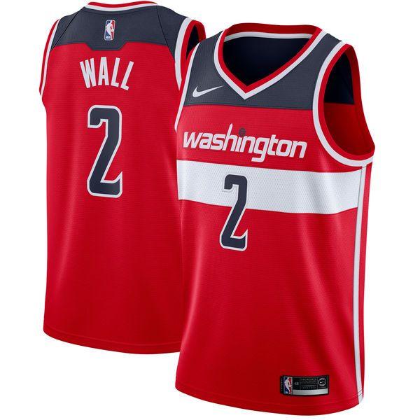 Men's Washington Wizards John Wall Nike Red Swingman Jersey - Icon Edition