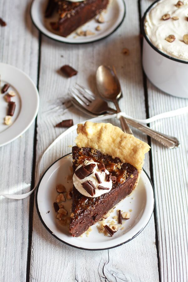 Fudge Brownie and Chocolate Liqueur Crème Brûlée Pie | halfbakedharvest.com
