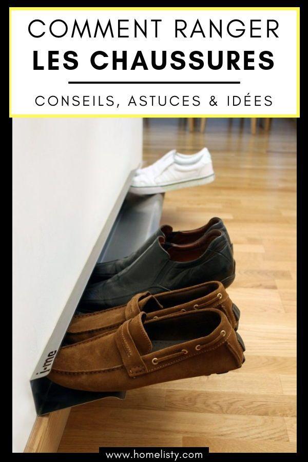 61 Idées & Astuces pour le Rangement des Chaussures (avec images)   Astuce rangement chaussures ...